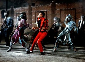 Jackson lays down some moves in the zombie dance scene from his 1982 Thriller music video CT