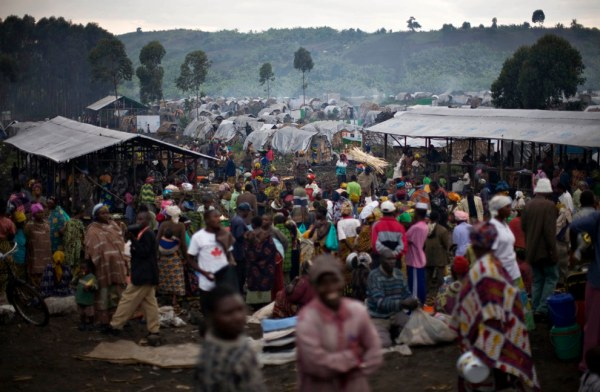A makeshift refugee camp in eastern Congo.  Image care of Reuters photographer Finbarr O'Reilly