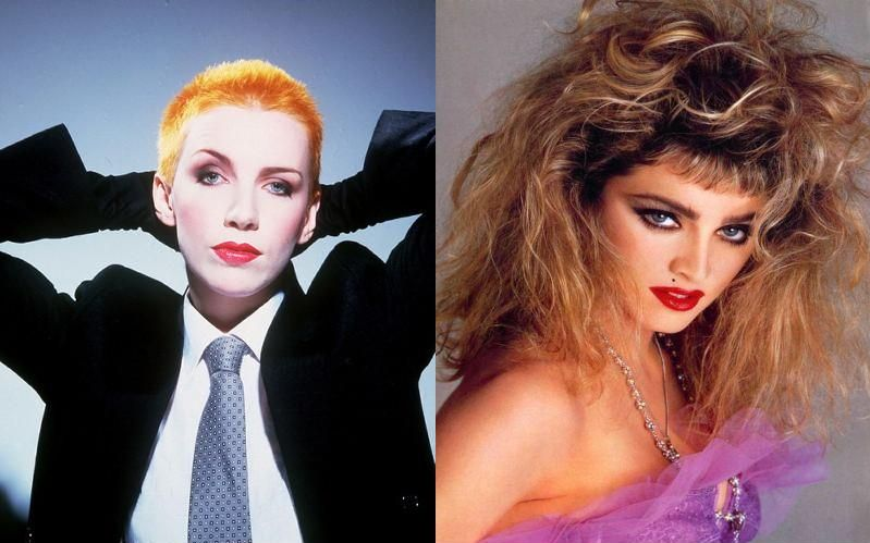Androgynous Annie Lennox, Hypersexy Madonna