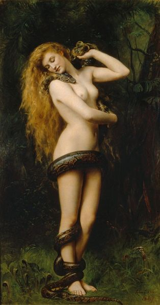 A depiction of Lilith by painter John Collier, 1892