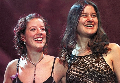 The unambiguously female duo: Sarah McLachlan and Paula Cole