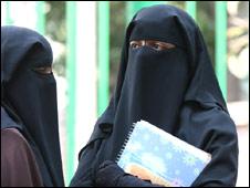 The Niqab, worn by a Muslim woman