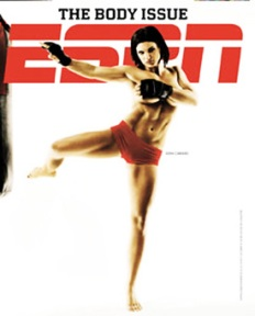 "Mixed martial arts fighter, Gina Carano, in ""The Body Issue."""