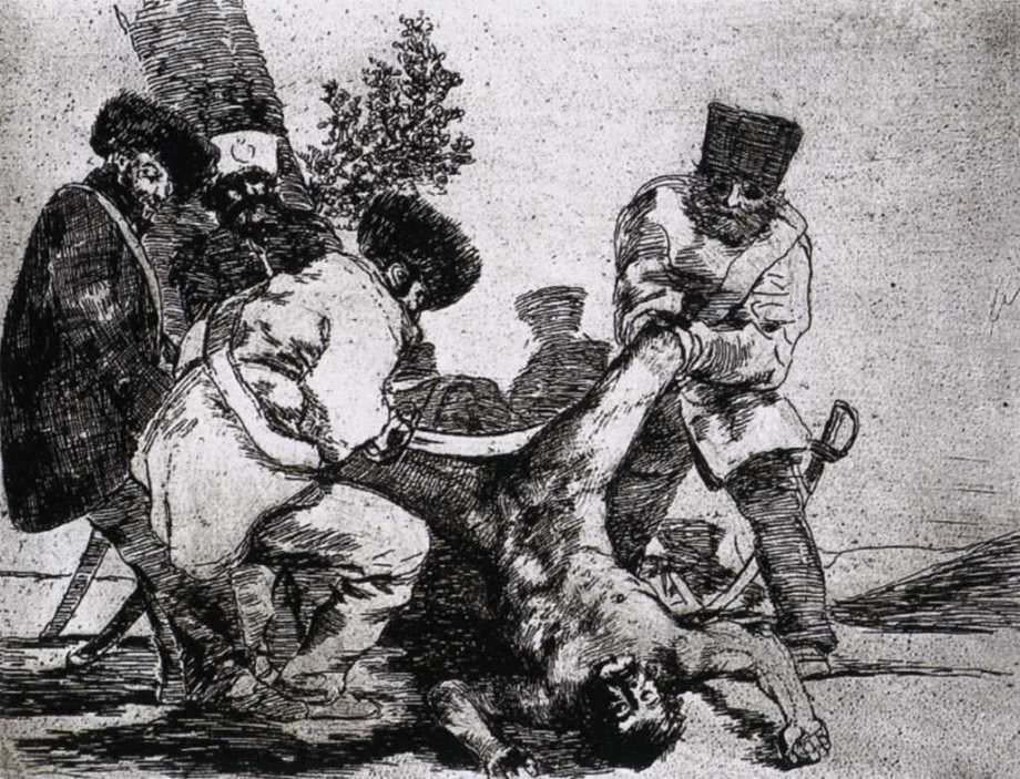 "In this sketch, artist Francisco Goya asked, ""What More Can Be Done?"""