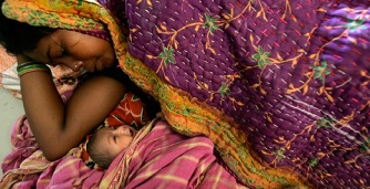 Mother and newborn in India