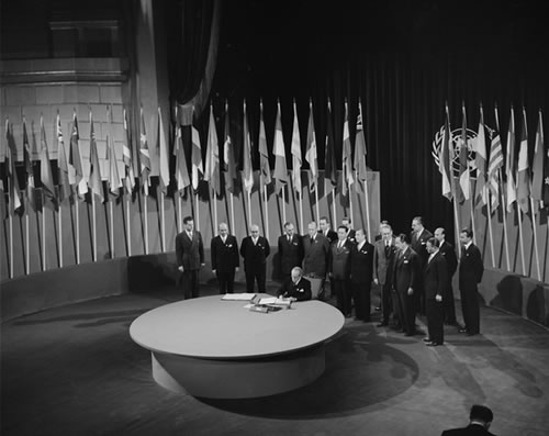 San Francisco, where it all began: the signing of the U.N. charter in 1945