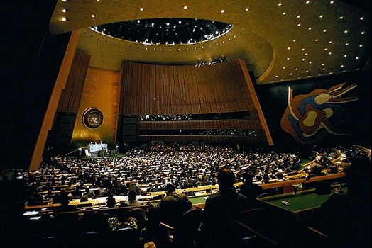 A peek into the 64th Session of the United Nations General Assembly at the headquarters in New York