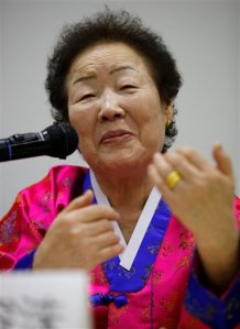 Lee Yong-soo, 81 year old former Comfort Woman (AP Photo/Itsuo Inouye)