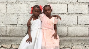 Sisters Lovely, 8, and Mariefleur, 7