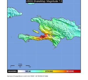 Haiti Earthquake Shake Map